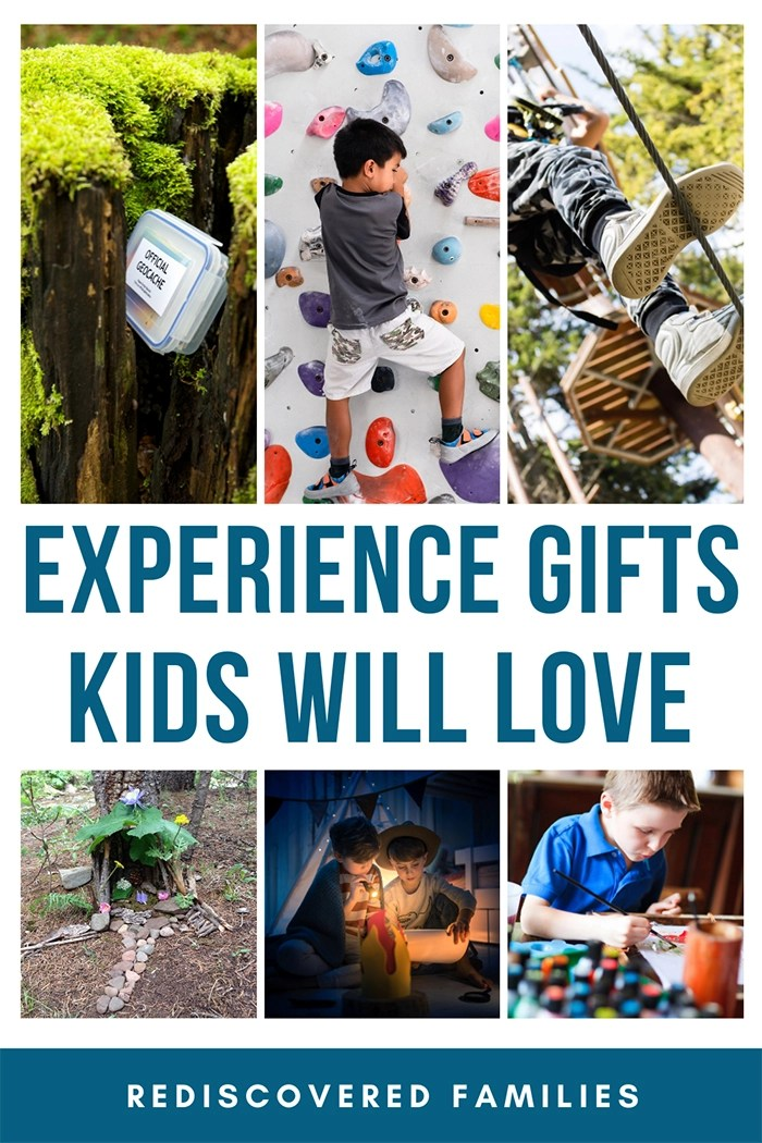 Experience gift ideas pin