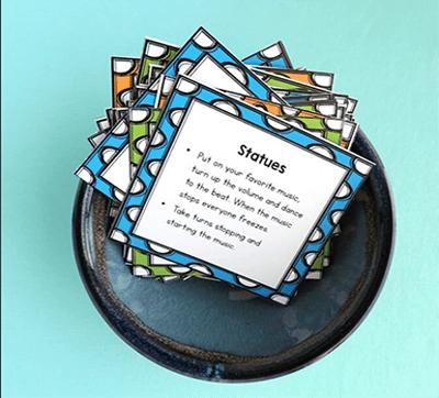 cards in a bowl