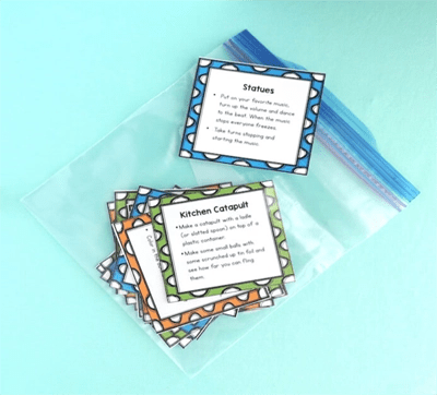 cards in plastic bag