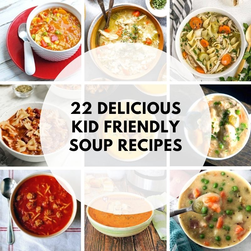 collection of healthy soups