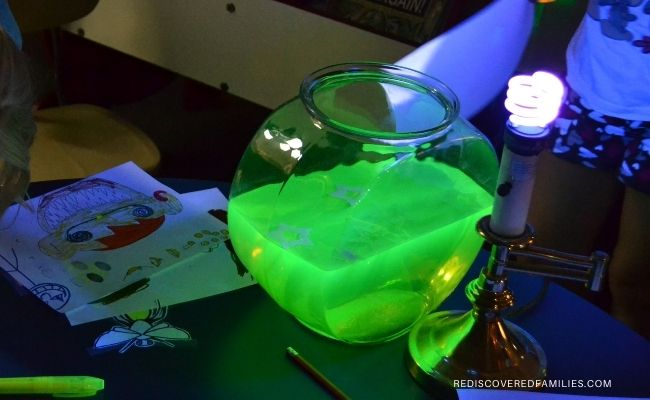 glow water under a black light
