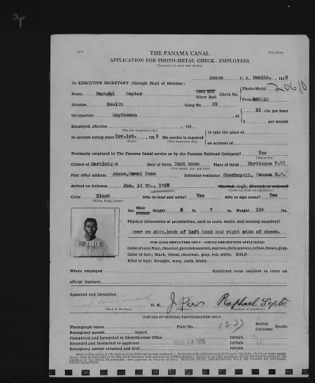 Application for Photo Metal Check for Raphael Septer (NAID 6821421)