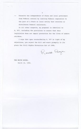 Reagan's Veto