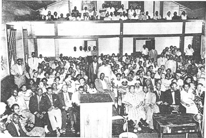 many people sitting in a church