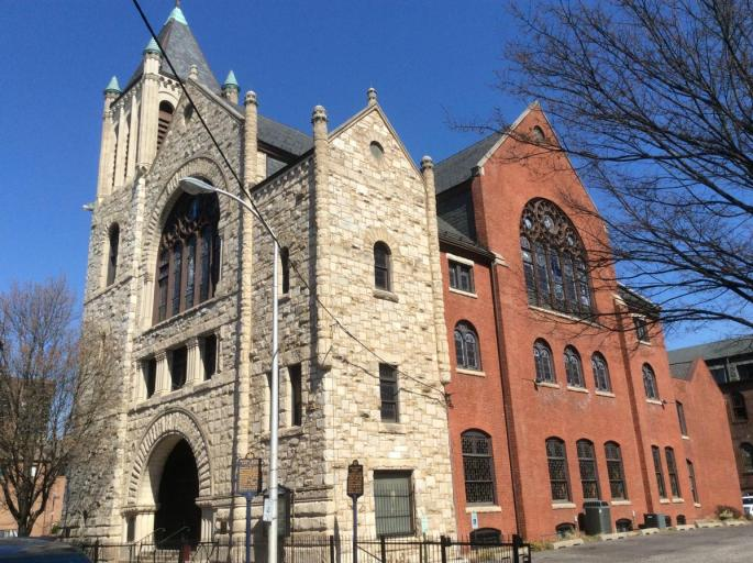 view of front and side of Mother Bethel AME church