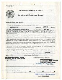 Documents regarding the release of Bayard Rustin