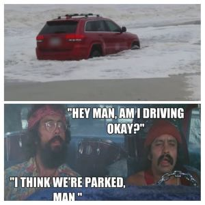 The RedJeepDorian - Cheech & Chong Meme