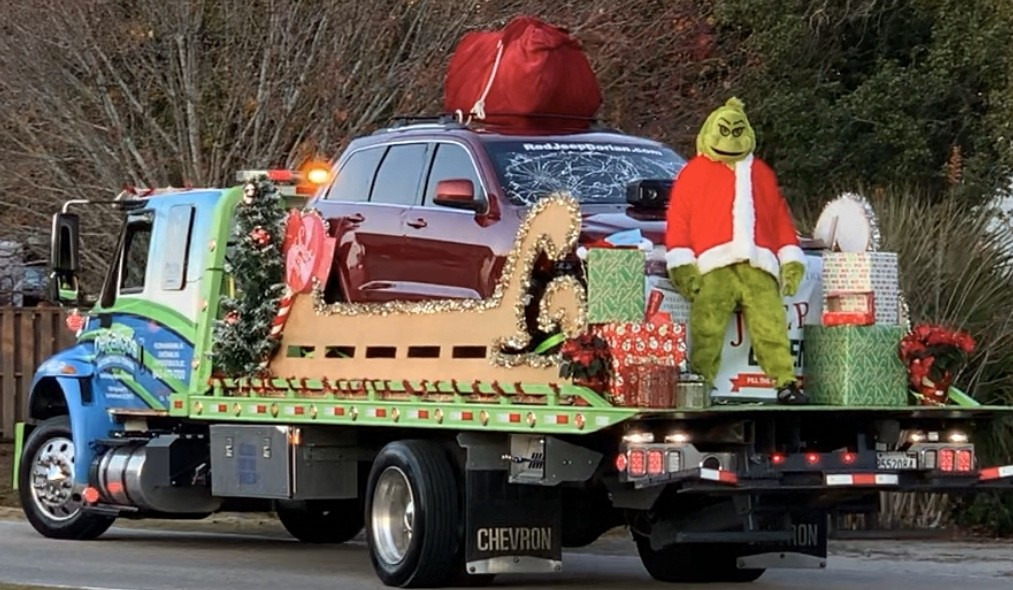 The Grinch arrives at the North Myrtle Beach Parade