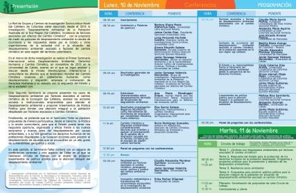 Programación Seminario Desplazamiento Ambiental 2