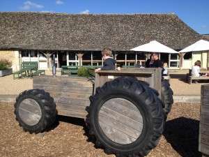 timber play tractor Cogges Farm Witney