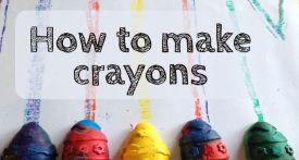 how to make crayons, homemade crayons, crayon tutorial, crayon craft
