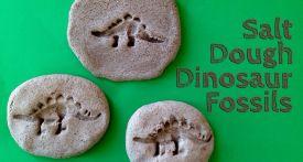 salt dough dinosaur fossil, how to make dinosaur fossils, homemade dinosaur fossils, dinosaur craft, homemade fossils
