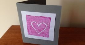 homemade heart card, stamp card, homemade fathers day card, homemade valentines card, homemade mothers day card