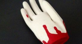 halloween hand, plaster hand, how to make a halloween hand, halloween craft, severed hand for halloween costume