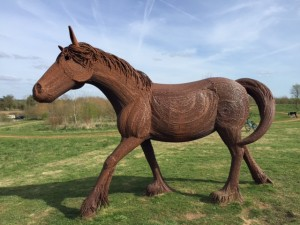 kilkenny lane country park, carterton, witney, shire horse sculpture, oxfordshire