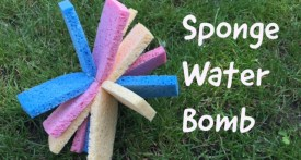 sponge water bomb, water games for kids, backyard games, kids garden games, heatwave