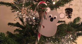 koala candy cane, koala craft, koala christmas craft, aussie craft, aussie animals craft, australiana craft, candy cane craft, koala decoration