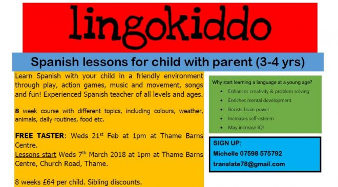 spanish lessons for kids in thame, language classes thame