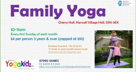 family yoga class didcot, family yoga didcot, weekend yoga class