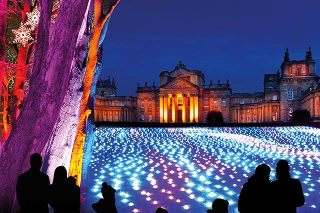 christmas lights woodstock, christmas lights blenheim palace