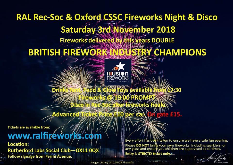 harwell fireworks 2018