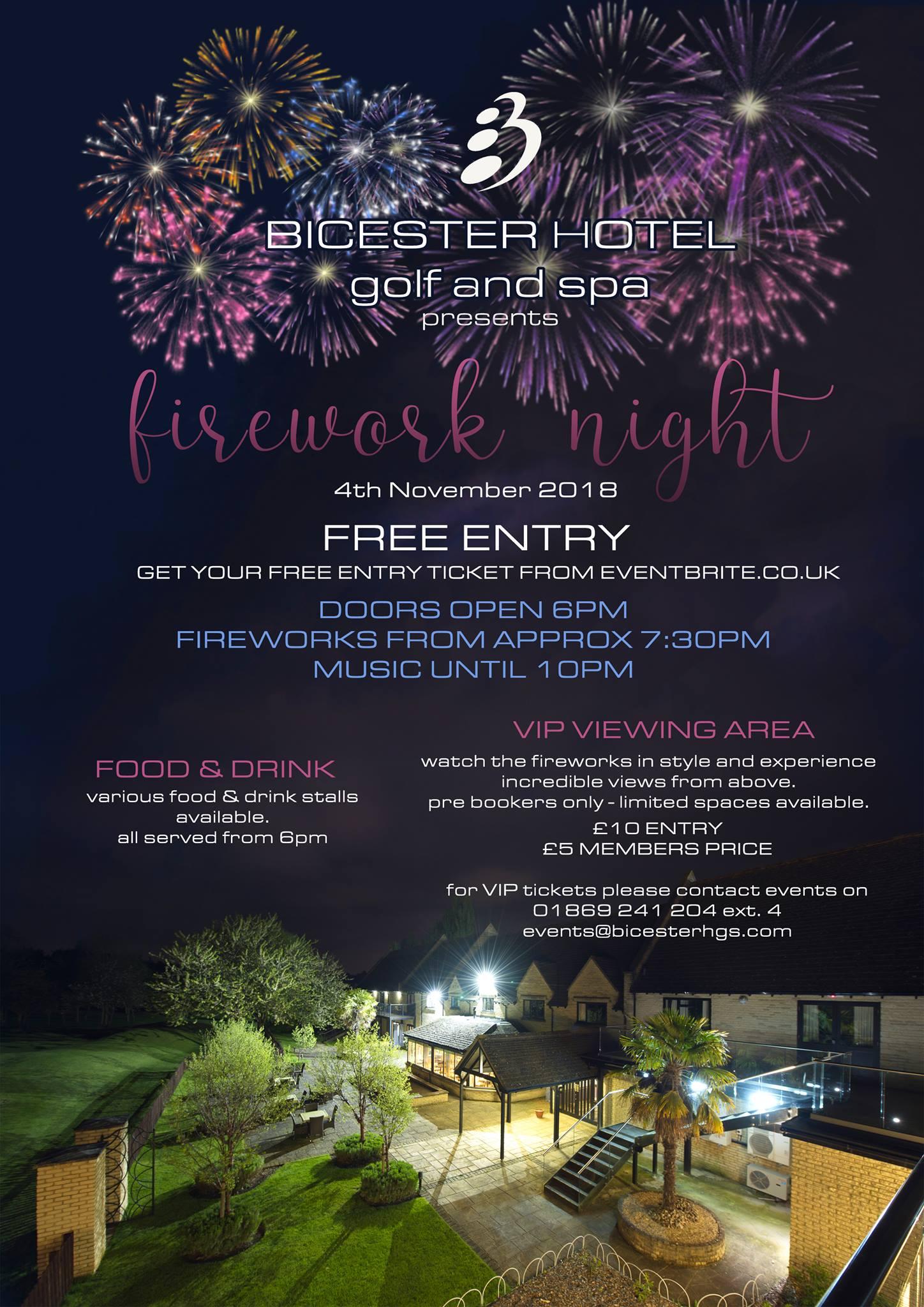 bicester fireworks 2018, chesterton fireworks 2018
