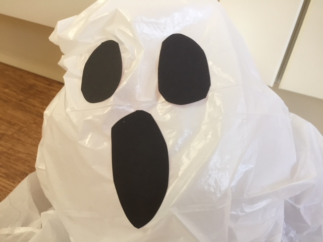 halloween ghost craft, kids hallowe