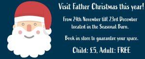 santa yarnton garden centre, father christmas yarnton garden centre, m