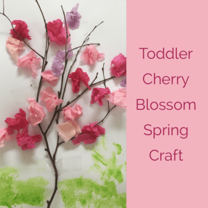 toddler spring craft, preschool cherry blossom art