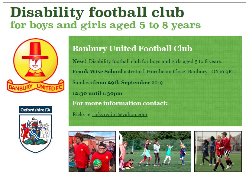 disability football club, football children with disabilities