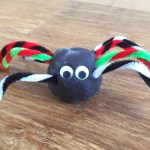 play dough spider, spider craft, toddler halloween craft