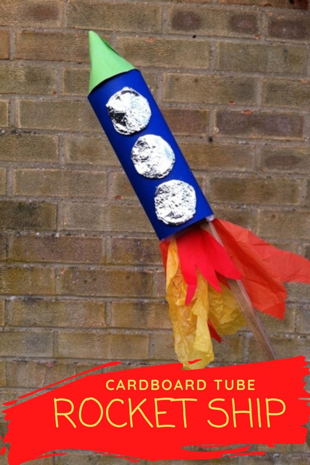 how to make a rocket, cardboard tube rocket, tube rocket ship