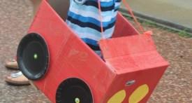 cardboard box car, cardboard box race car, DIY cardboard box car, Make kids cardboard car, car themed kids party ideas