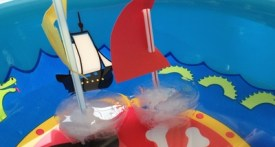 ice cube boat, preschool ice cube boat, kindergarten