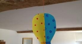 papercraft hot air balloon, preschool hot air balloon craft, paper hot air balloon