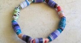 paper beads, make paper beads, make bracelet ideas