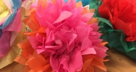 make tissue paper flowers, tissue paper flower wedding decoration, tissue paper flower christening decoration