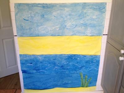 seaside preschool art activity