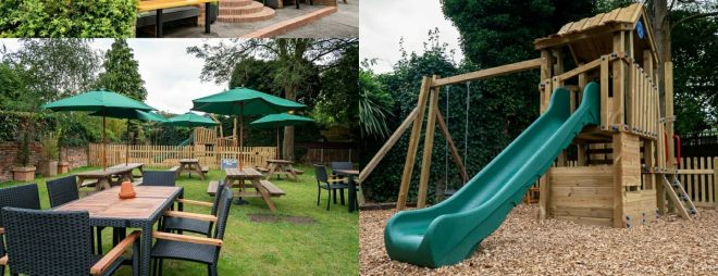 pubs with play parks high wycombe, eating out with kids high wycombe