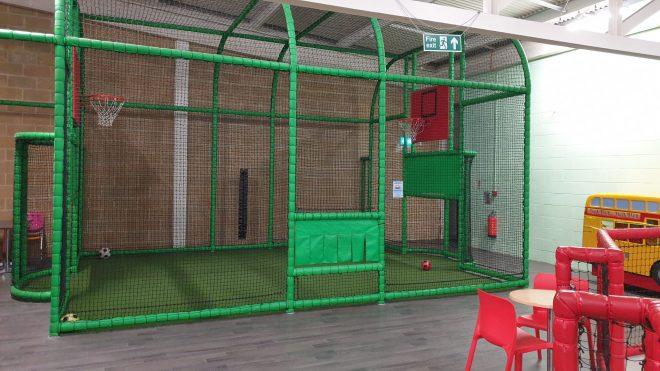football and basketball enclosed area at djs soft play hemel