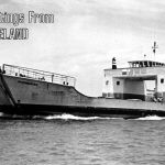 Moongalba vehicular ferry on postcard, Cleveland , ca 1970
