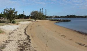 Raby Bay has north facing sandy beaches like this