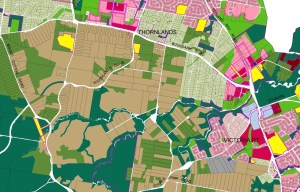Thornlands area in the current Redland City Planning Scheme (click to enlarge)