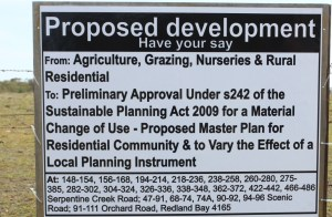 Shoreline advertisement of proposed development