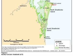 EPBC referal discusses implications for Moreton bay Ramsar site