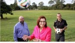 Redland City Bulletin photo for story on the sporting field upgrade
