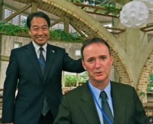 Dr Tetsuo Mizuno with Cr Craig Ogilvie