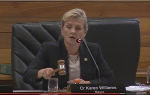 Mayor Karen Williams - under pressure?