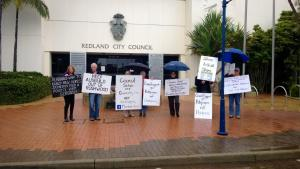 Community group protesting against development in the Redlands