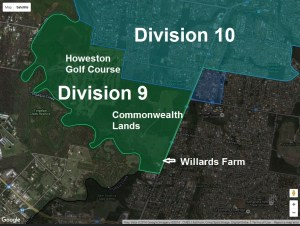 Area transferred from Division 10 to Division 9